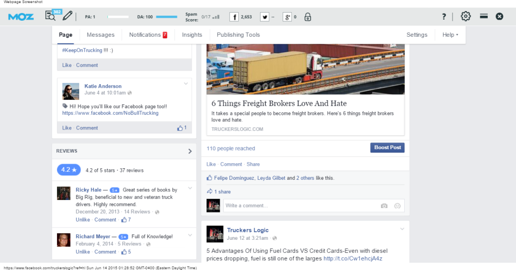 Facebook Engagement And Comments