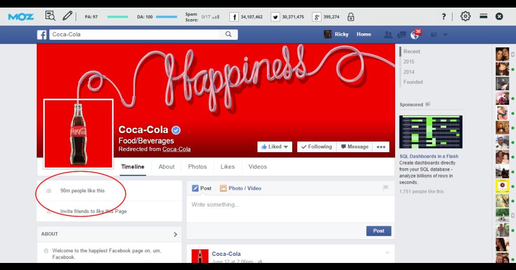 Coca Cola On Facebook