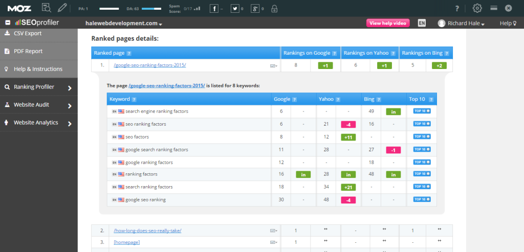 Track Your Ranking Pages
