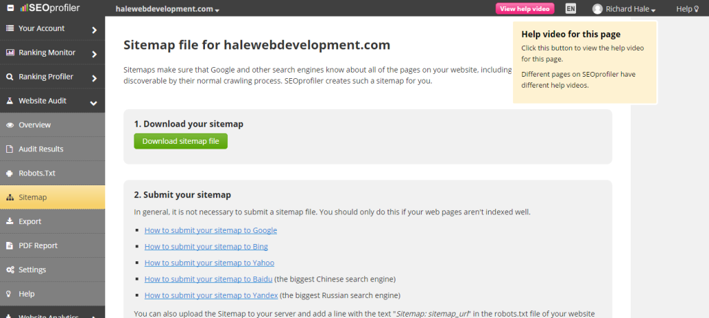 Submit Your SEO Sitemap