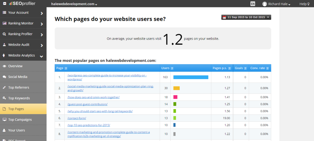 Check The Top Pages Of A Website