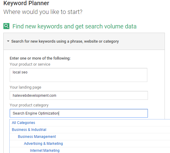 Searching For Keyword Ideas