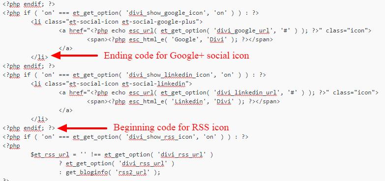 Adding social icons to Divi WordPress theme