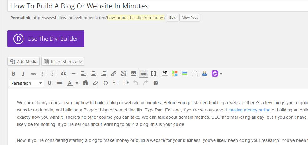 Building A WordPress Blog
